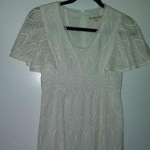 NANETTE LEPORE SWEET LACE AND EYELET DRESS 0